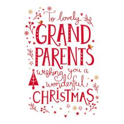 Christmas Card (Single) - Text (Grand Parents)