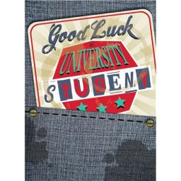 Good Luck Card - Student Beer Mat