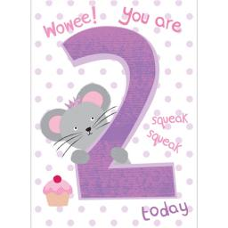 Magic Numbers Card - Peepo Mousey (Age 2)