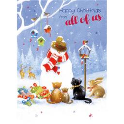 Christmas Card (Single) - From All Of Us 'Snowman & Friends'