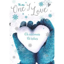 Christmas Card (Single) - One I Love 'Heart Shaped Snowball'