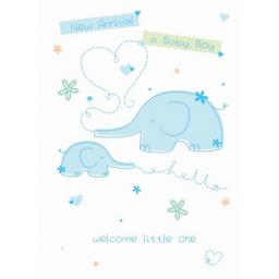 New Baby Card - Little Boy (Baby Boy)