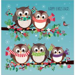 Charity Christmas Card Pack - Owl Party!