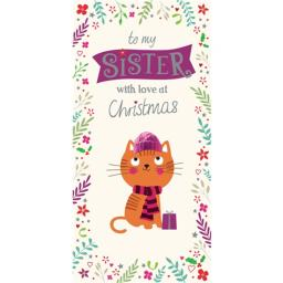 Christmas Card (Single) - Sister 'Christmas Kitten'