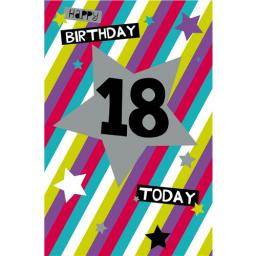 Age To Celebrate Card - 18 Generic