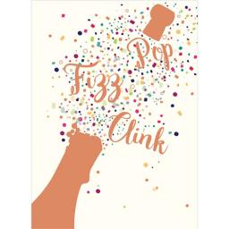 Congratulations Card - Pop Fizz Clink