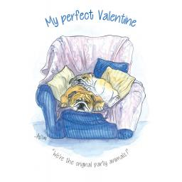 Valentines Day Card - My Perfect Valentine (Open)