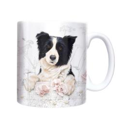 Straight Sided Mug - Border Collie