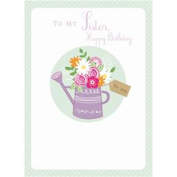 Family Circle Card - Watering Can (Sister)
