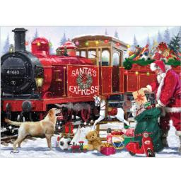 Rectangular Jigsaw - Santa's Express