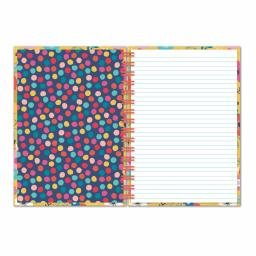 Bohemia Stationery - A5 Hardcover Notebook - Flowers