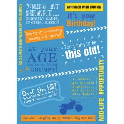 A Way With Words Card - Young At Heart
