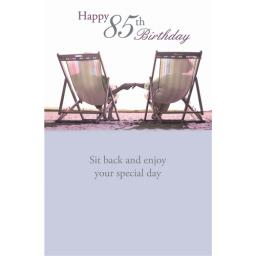 Age To Celebrate Card - 85 Deckchairs