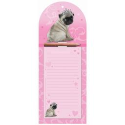 Magnetic Memo Pad - Princess Pug