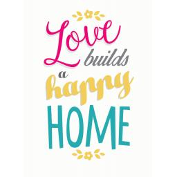 New Home Card - Build A Happy Home