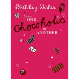 A Way With Words Card - Chocolate Wishes