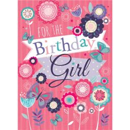 Poppy Davis Card - Birthday Girl Floral