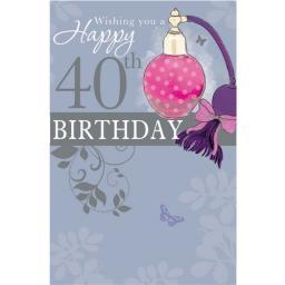 Age To Celebrate Card - 40 Perfume