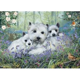 Rectangular Jigsaw - Westies In The Wood