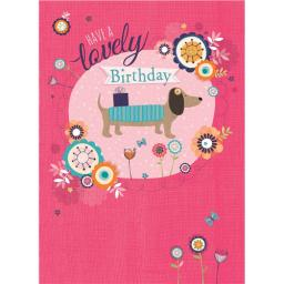 Poppy Davis Card - Sausage Dog