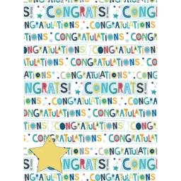 Gift Wrap & Tags - Congratulations Text