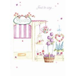 Teacups & Trinkets Card - Flower Shop