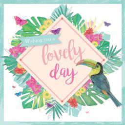 Summer Tropics Card - Tropical Toucan