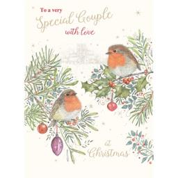 Christmas Card (Single) - Special Couple 'Two Robins'