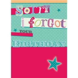 Belated Birthday Card - Star