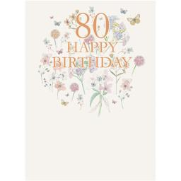 Age To Celebrate Card - 80 Happy Birthday