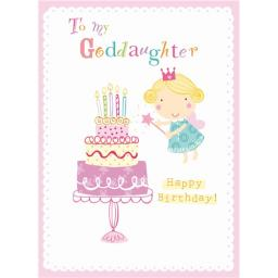 Family Circle Card - Birthday Fairy (Goddaughter)