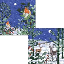 Luxury Christmas Card Pack - Winter Woodland
