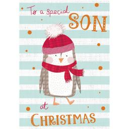 Christmas Card (Single) - Son - Christmas Penguin