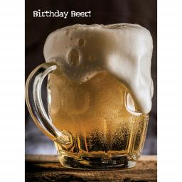 First Class Male Card - Birthday Beer!