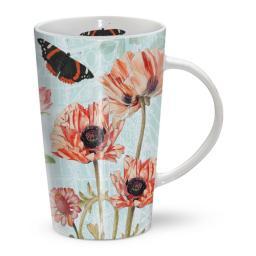Latte Mug - Oriental Poppy