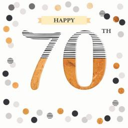Age To Celebrate Card - 70