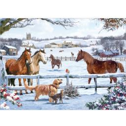 Rectangular Jigsaw - Christmas On The Farm