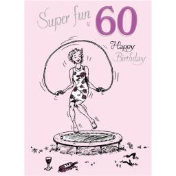 Young At Heart Card - 60 Female - Trampoline Fun