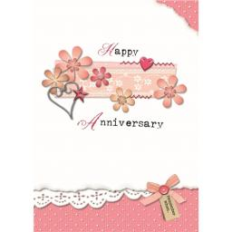 Anniversary Card - Happy Anniversary (Open)