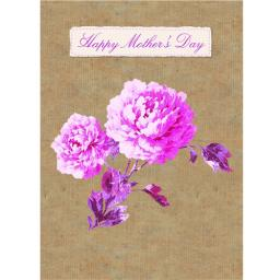 Mother's Day Card - Vintage Rose