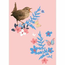 RSPB Card - Garden Party - Little Wren