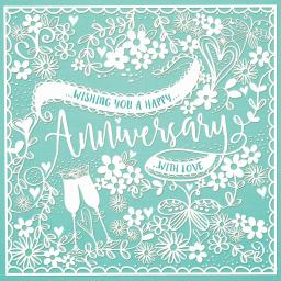 Anniversary Card - Pretty Papercut