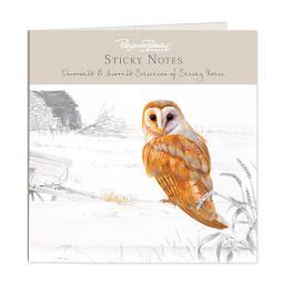 Pollyanna Pickering Stationery - Sticky Notes Selection (Barn Owl)