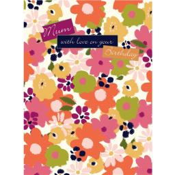 Family Circle Card - Bright Citrus Flowers (Mum)