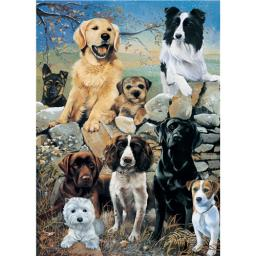 Rectangular Jigsaw - Mixed Dogs The Look Out