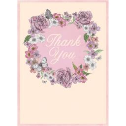 Thank You Card - Floral Circle