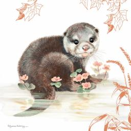 Pollyanna Pickering Countryside Collection Card - Otter Cub