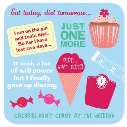 Coasters - Perfect Gifts For Him & Her Dieting