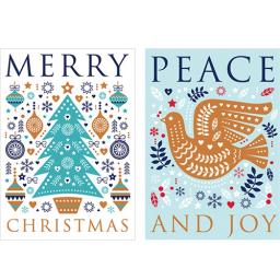 Help For Heroes Christmas Card Pack (Medium) - Peace & Joy