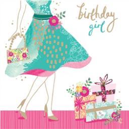 Rose Gold Card - Vintage Birthday Shopping